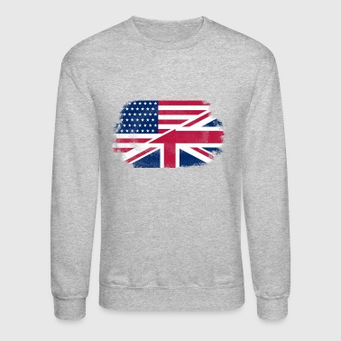 USA - Union Jack Flag - Vintage Look - Crewneck Sweatshirt