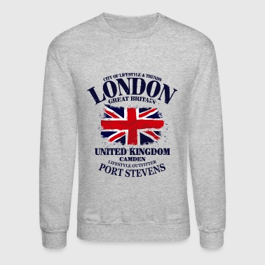 London - Union Jack - Vintage Look - Crewneck Sweatshirt