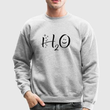 H2O Water Chemical Symbol - Crewneck Sweatshirt
