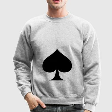 Suit of Spades Spade Pik Peak Mountaintop Cardgame - Crewneck Sweatshirt