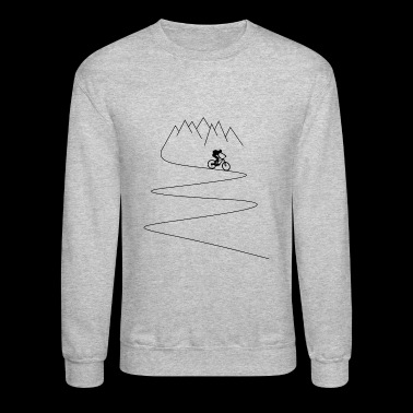 mountain bike mountain biker cycling - Crewneck Sweatshirt