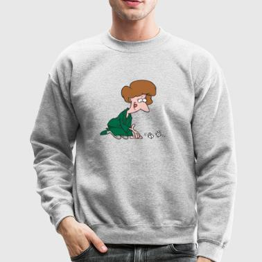 Woman Rolling Dice - Crewneck Sweatshirt