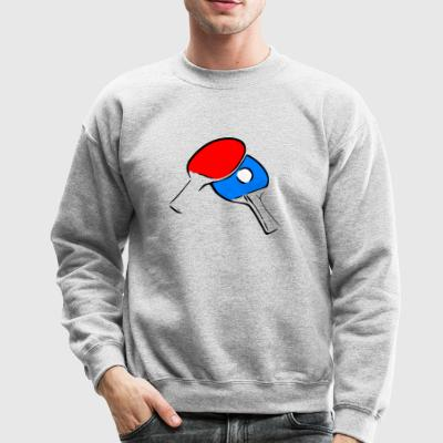 table tennis ping pong tischtennis bat3 - Crewneck Sweatshirt