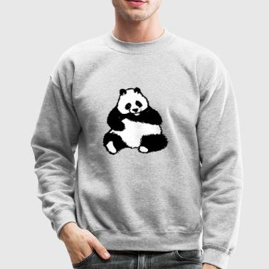 panda bear baer zoo wildnis china - Crewneck Sweatshirt