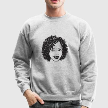 Black Woman Nubian Princess Queen Afro Hair Beauty - Crewneck Sweatshirt