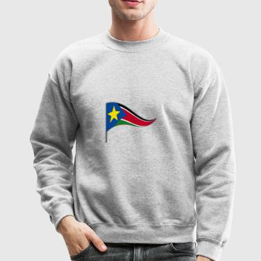 South Sudan Africa Flag Banner Flags Ensigns - Crewneck Sweatshirt