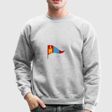 Mongolia China Russia Flags Banner Ensigns Nomadic - Crewneck Sweatshirt