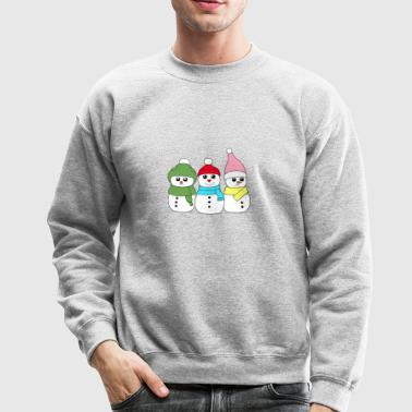 Christmas Time three Snowmens Snowman XMAS Gift - Crewneck Sweatshirt