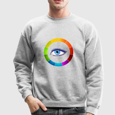Eye color wheel - Crewneck Sweatshirt