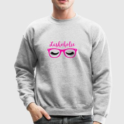 Pretty Pink LashoHolic Cute Eyelash Perfectionist - Crewneck Sweatshirt
