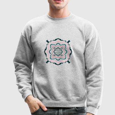 Flower Geometry Present Art Design Pink - Crewneck Sweatshirt