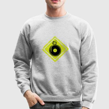 dj turntable sign - Crewneck Sweatshirt