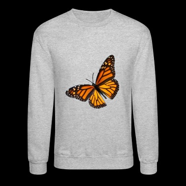 butterfly transparent - Crewneck Sweatshirt