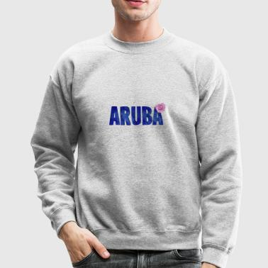 Aruba Flower Watercolor - Crewneck Sweatshirt