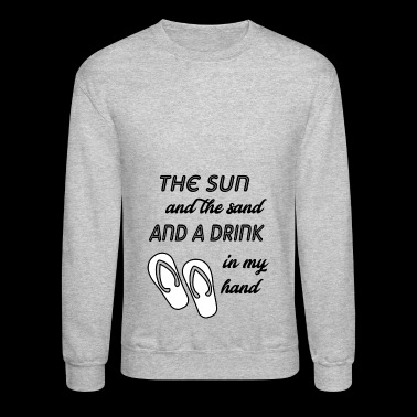 the sun and the sand - Crewneck Sweatshirt
