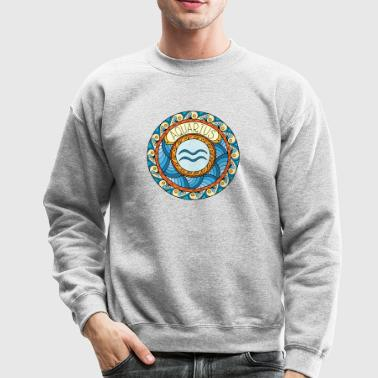 Zodiac sign Aquarius - Crewneck Sweatshirt