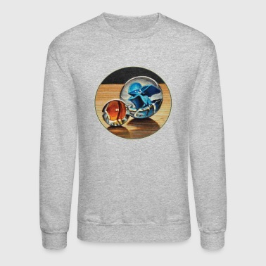 Orange and Blue Glass Marbles - Crewneck Sweatshirt