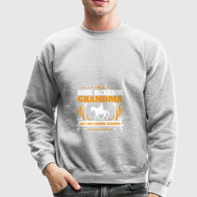 Horse Backriding Grandma Shirt Gift Idea - Crewneck Sweatshirt