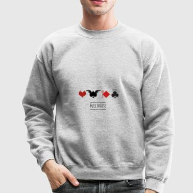 full house game poker casino cards pik heart devil - Crewneck Sweatshirt