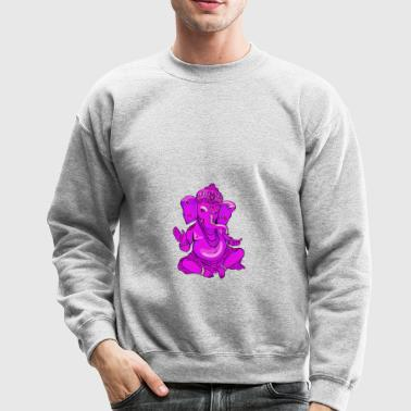ganesha pink Girl Yoga india God elephant spiritua - Crewneck Sweatshirt