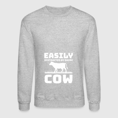 Easily Distracted Dairy Cow - Crewneck Sweatshirt