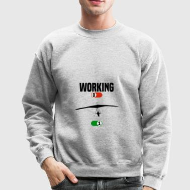 Working hang glider glide gift - Crewneck Sweatshirt