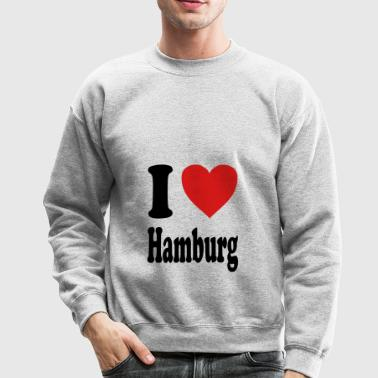 I love Hamburg (variable colors!) - Crewneck Sweatshirt