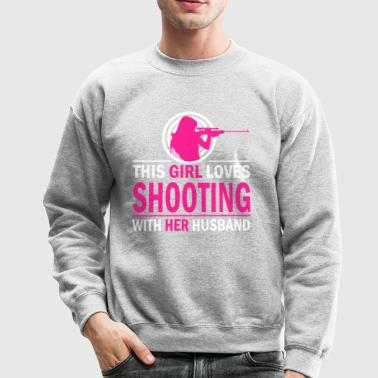 Shooting with her husband - Crewneck Sweatshirt