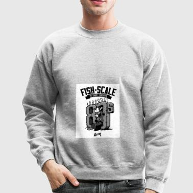 fish scale design - Crewneck Sweatshirt