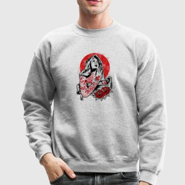 Virgin Mary Tattoo - Crewneck Sweatshirt
