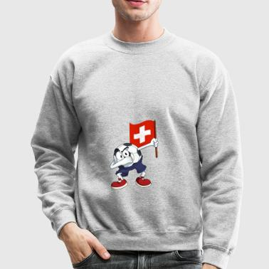 Switzerland Dabbing Soccer Ball - Crewneck Sweatshirt