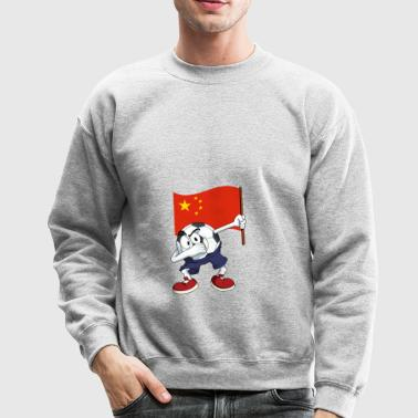China Dabbing Soccer Ball - Crewneck Sweatshirt