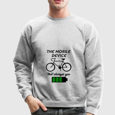 the mobile device - Crewneck Sweatshirt