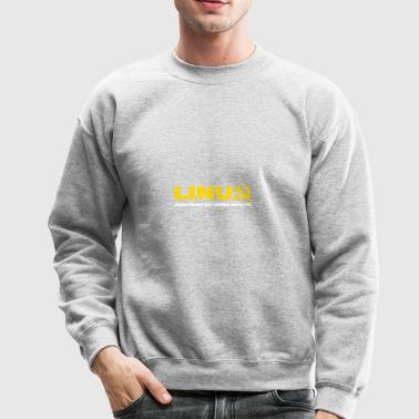 Linux because microsoft is for capitalists - Crewneck Sweatshirt