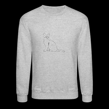 Cat Drawing - Crewneck Sweatshirt