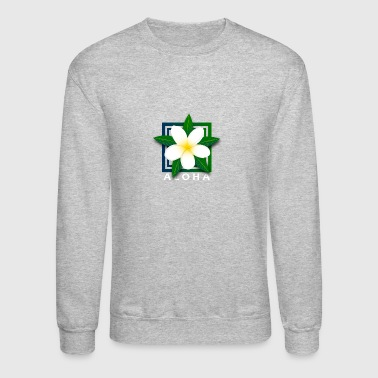 Tropical Island Flower w/ Aloha - Crewneck Sweatshirt