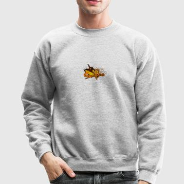 Surfers street art - Crewneck Sweatshirt