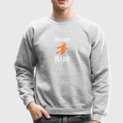 Frequent Flyer Halloween Broom Witch - Crewneck Sweatshirt