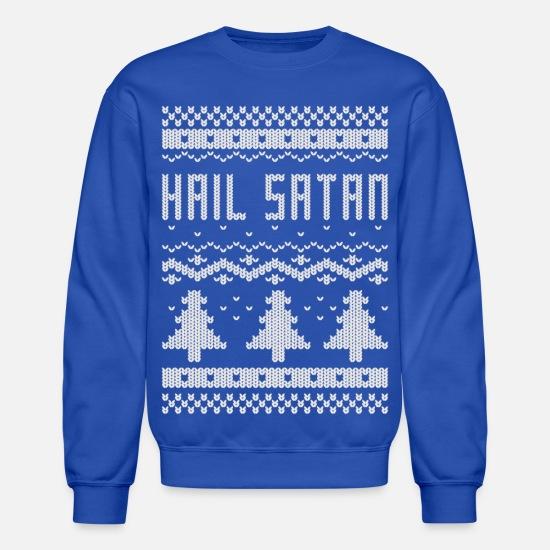 Satanic Christmas Sweater.Ugly Hail Satan Christmas T Shirt Unisex Crewneck