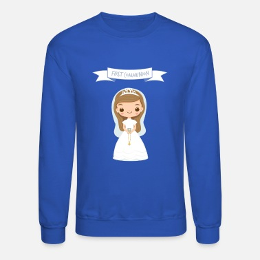 Kreuz First communion gift for Girls for the first Holy - Unisex Crewneck Sweatshirt