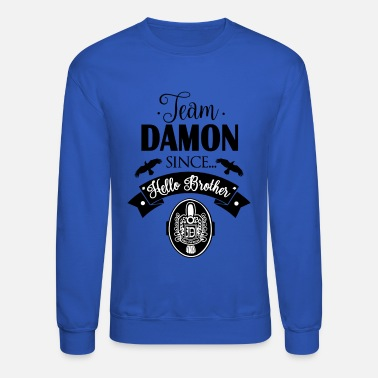 Vampire Team Damon Since Hello Brother - Crewneck Sweatshirt