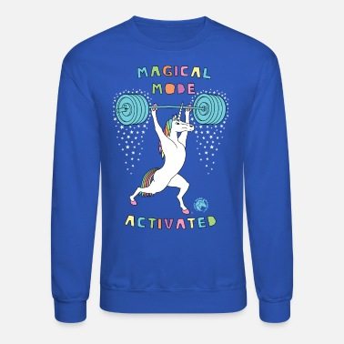Funny Crossfit Magical Mode Activated Unicorn Version 2 Outline - Unisex Crewneck Sweatshirt