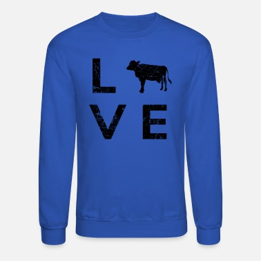 Dairy Cow farmer dairy cattle farmer breeder - Unisex Crewneck Sweatshirt