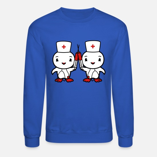 Team Bride Hoodies & Sweatshirts - team couple 2 sisters chicken chick bird syringe c - Unisex Crewneck Sweatshirt royal blue