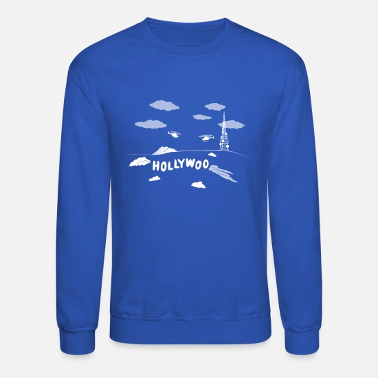 Horseman Hoodies & Sweatshirts - Holliwoo Sign - Unisex Crewneck Sweatshirt royal blue