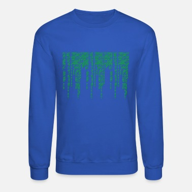 Matrix Binary Code Matrix style Design - Unisex Crewneck Sweatshirt
