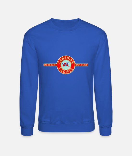 Shield Hoodies & Sweatshirts - canadian pacific logo78 - Unisex Crewneck Sweatshirt royal blue