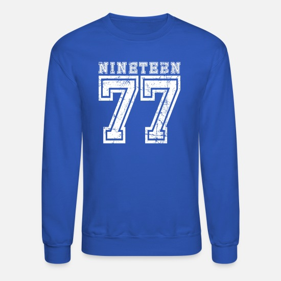 77 Hoodies & Sweatshirts - Nineteen 1977 - Unisex Crewneck Sweatshirt royal blue