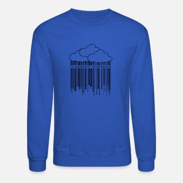 Ilustration Cloud Rainny Barcode Ilustration - Unisex Crewneck Sweatshirt