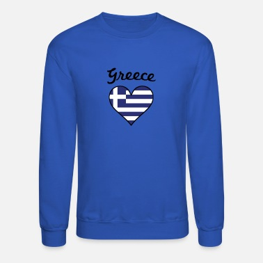 Greece Greece Flag Heart - Unisex Crewneck Sweatshirt